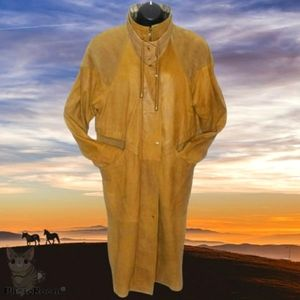 WILSONS Tan Western Leather Duster Trench Coat